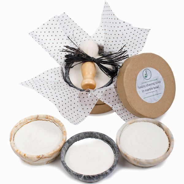 Peppermint Shaving Soap Gift Set (with Brush)