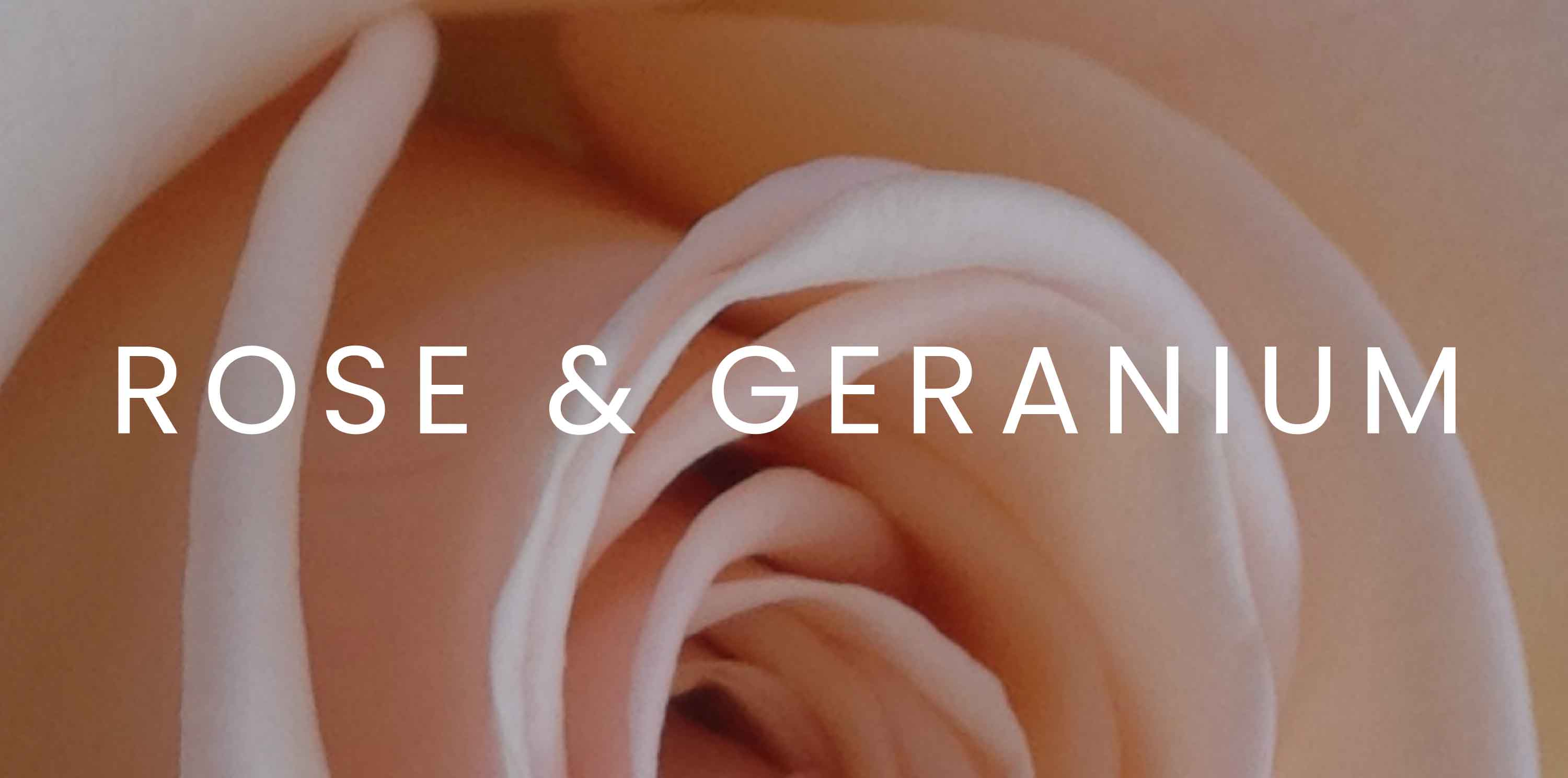 Shop rose & geranium